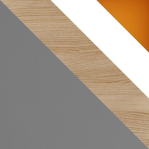 šedý / dub nova + biely + oranžový