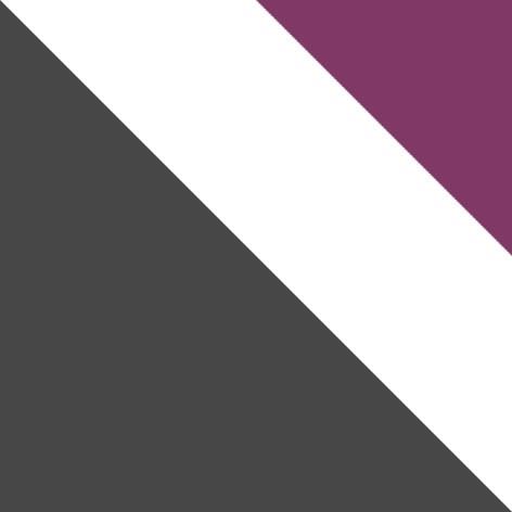 šedý mat / biela + fialový