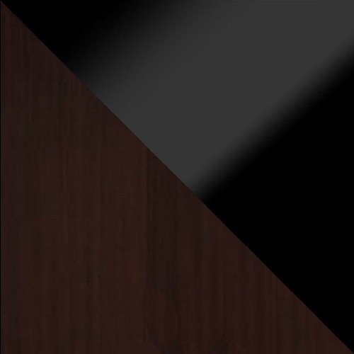 wenge / čierny lesk