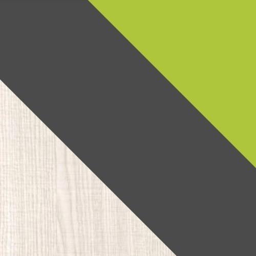 popol / grafit / zelená