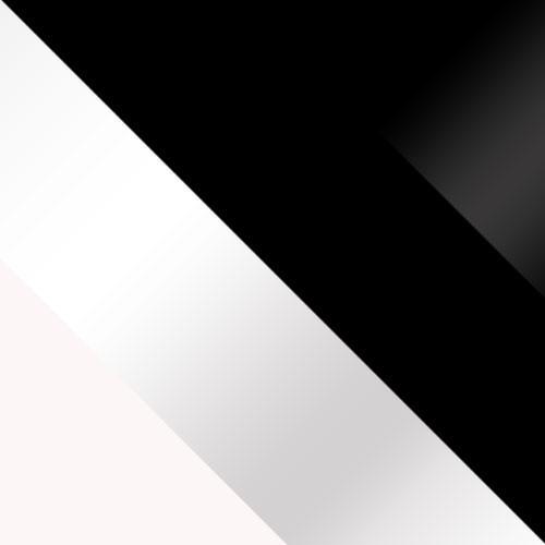 biela / biely lesk + čierny / čierny lesk
