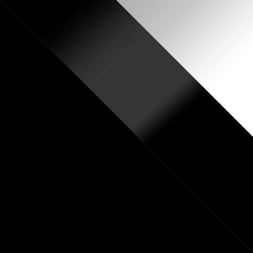 korpus: čierny, dvere: čierny lesk, zásuvka: biely lesk
