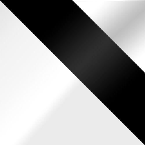 biela / čierne sklo + biele sklo