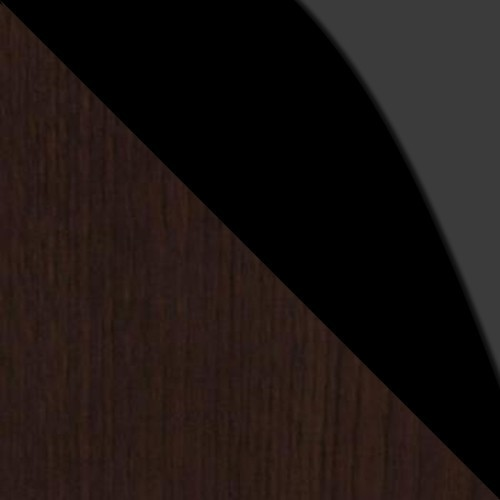 wenge / čierne sklo