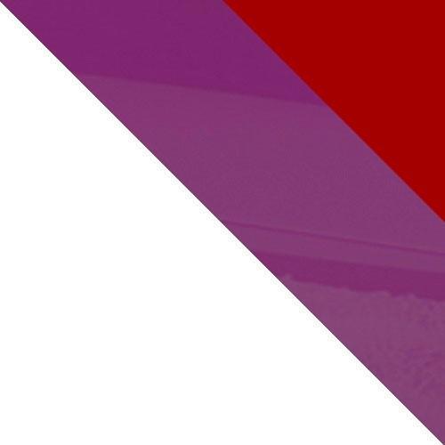 biela / červený lesk + fialový lesk