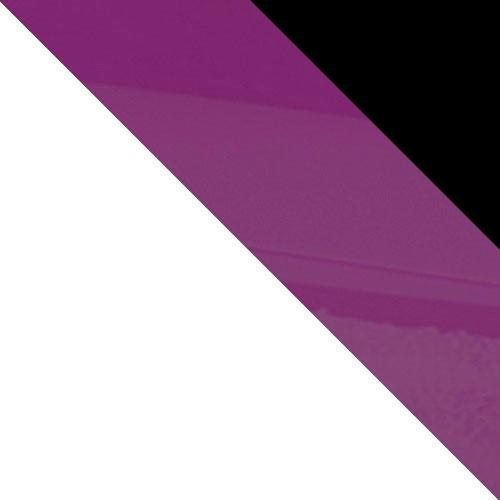 biela / fialový lesk + čierny lesk
