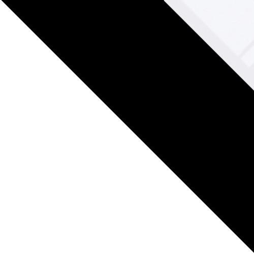 biela / čierny + biele sklo