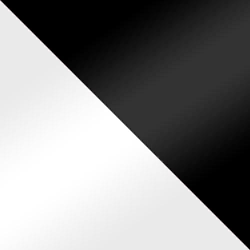 biely lesk / čierny lesk