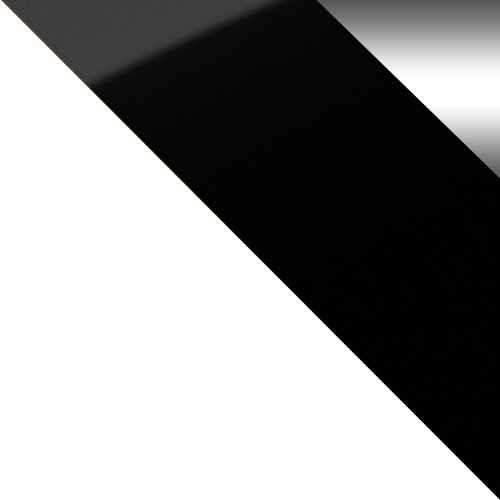 biela / čierne sklo + zrkadlo