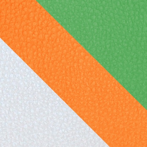 volleyball - biela / oranžová / zelená
